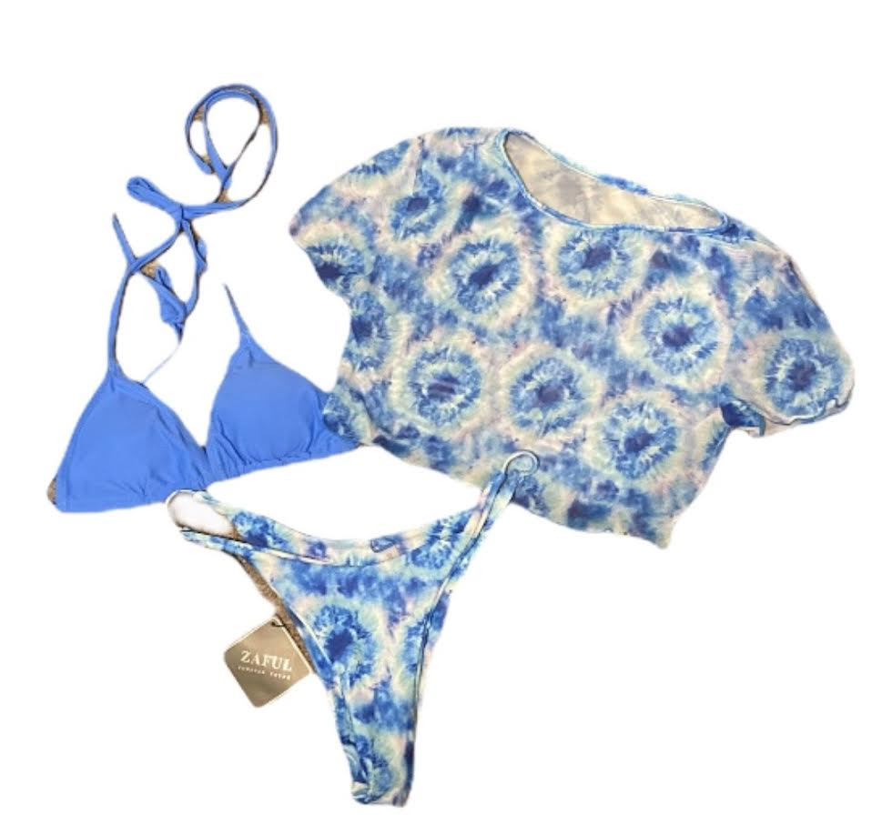 Tie Dye 3 pc Swimsuit