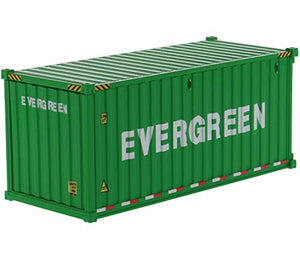 20' Dry Goods Sea Container Evergreen Green Transport Series 1/50 Model by Diecast Masters 91025 D