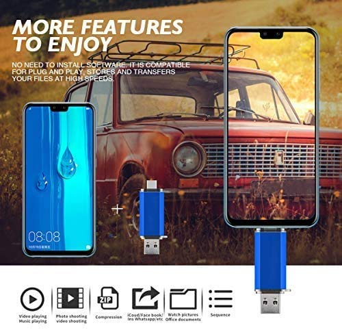 USB Flash Drive 128GB for USB C Android Phone Memory Stick
