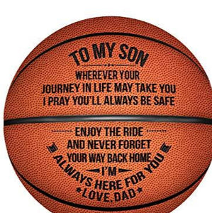 """To My Son"" Engraved Basketball"