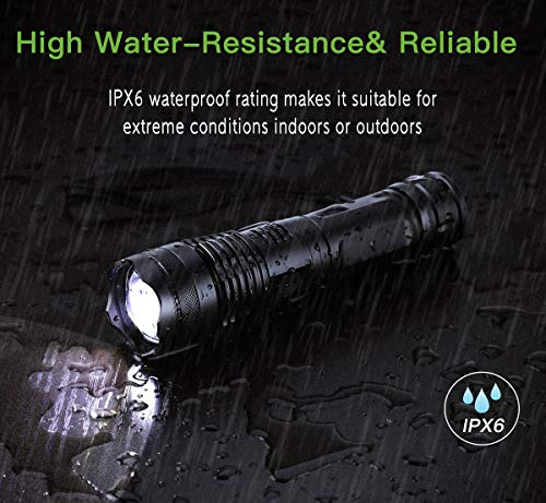 USB Rechargeable 5000 Lumen LED Tactical Flashlight