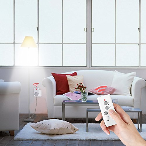 Magicfly Wireless Remote Control Electrical Outlet Switch with 100-feet Range for Lamps, Lights and Power Strips (Battery Included) (5 Pack 1 Remote)