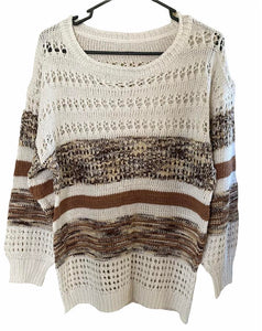 Earth Tone Hollow Out Sweater