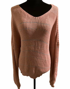 Pink Gold Dipped Sweater