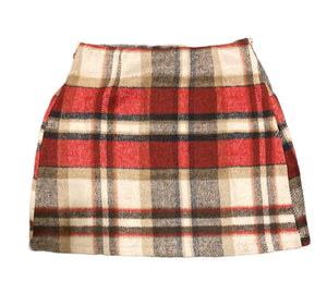 Plaid Hi Rise Mini Skirt