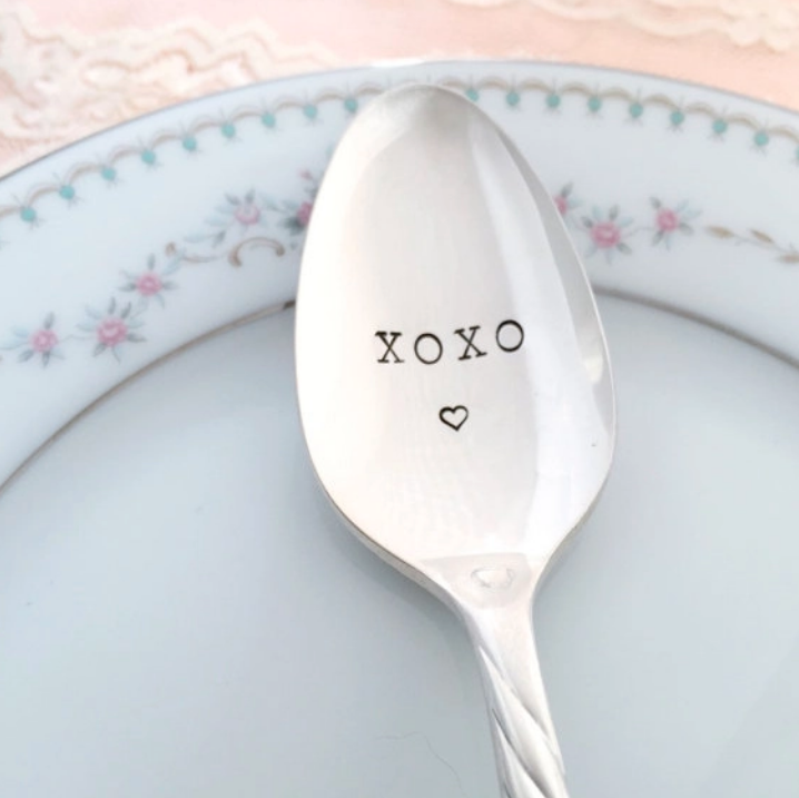 XOXO Hand Stamped Vintage Spoon