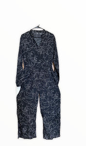 Squiggly Print Jumpsuit