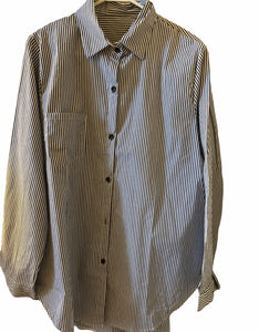 Mens Striped Dress Shirt