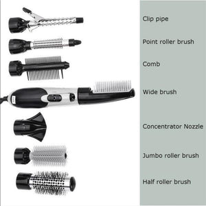7 in 1 Professional Hair Styling Set (Silver)