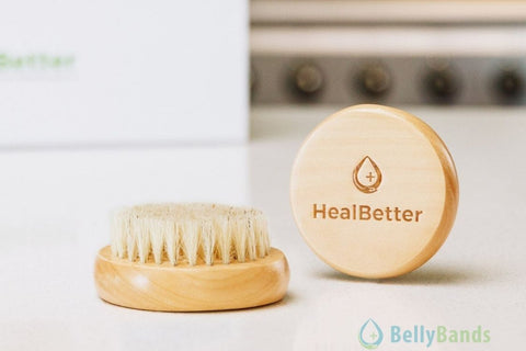 Dry brushing after surgery