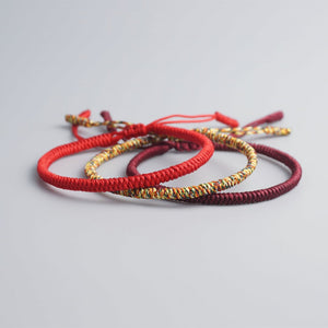 Tibetan Buddhist Red Lucky Bracelets - Abundance Flows