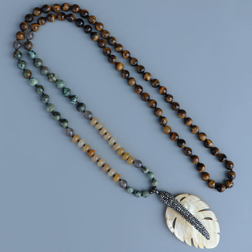 108 Tiger Eye Beads Mala - Abundance Flows