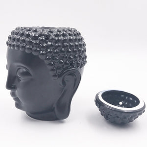 Ceramic Buddha Head Oil Burner - Abundance Flows