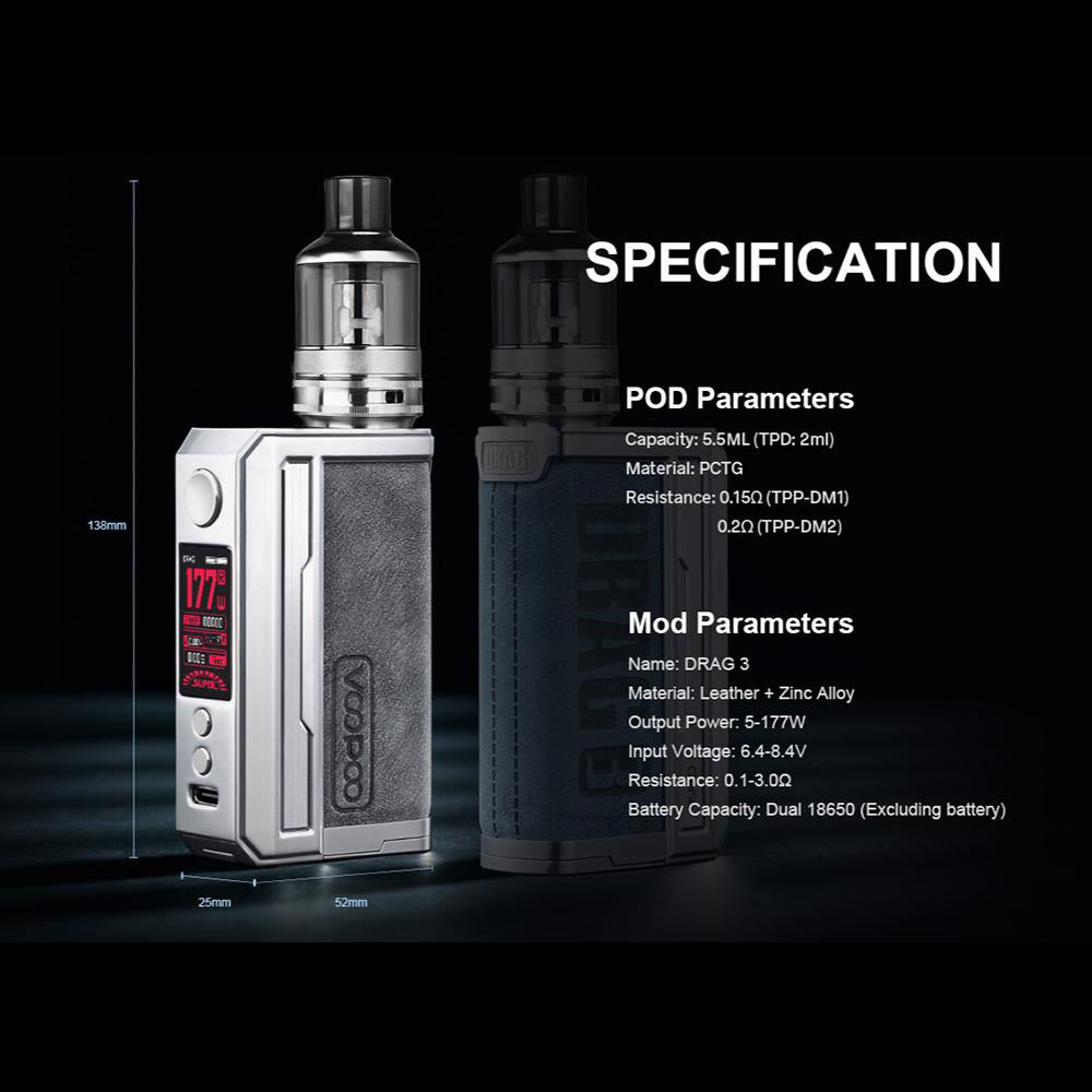 Voopoo Drag 3 Specification