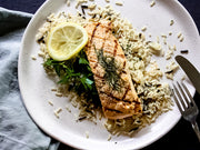 Grilled Atlantic Salmon Fillet in Smoky Maple Butter