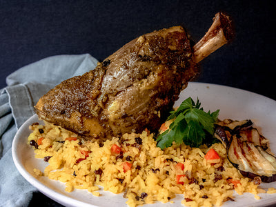 Braised Persian Lamb Shank
