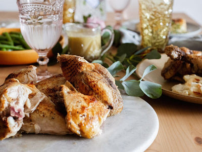 Classic French Country Roasted Chicken Dinner for 4-5