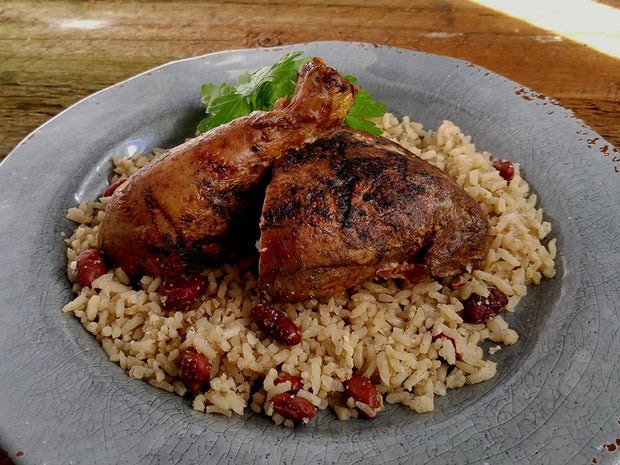Grilled Jamaican Jerk Chicken Leg