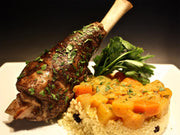 Braised Moroccan Lamb Shank with Harissa Spices