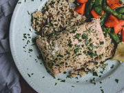 Basil Infused Jail Island Salmon