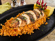 Cajun Blackened Chicken Breast with Jambalaya Rice