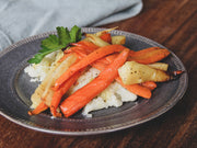 Braised Carrot and Parsnip Medley