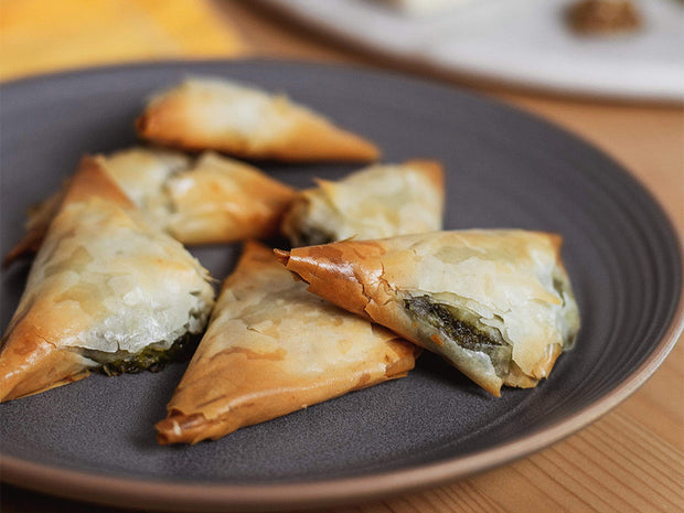 Spinach and Feta Phyllo Triangles
