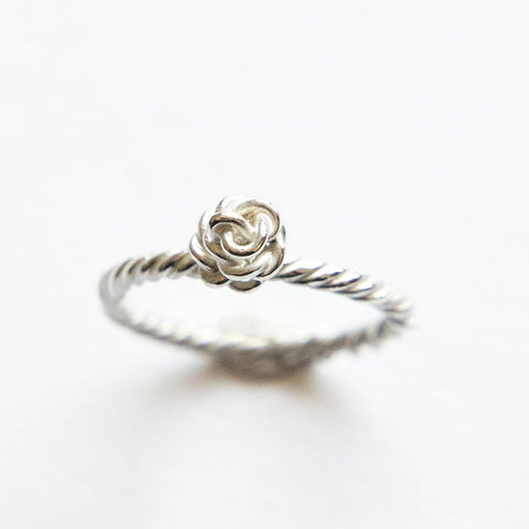 Flora ring 'rose' in Silver