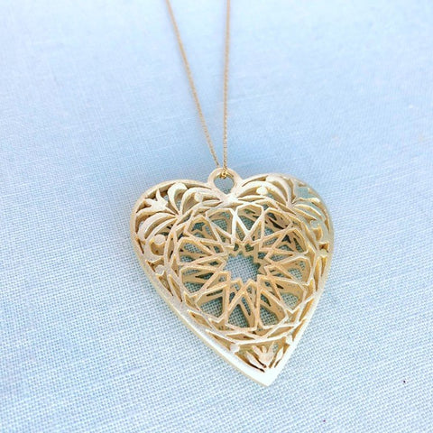 Give Love! Gold plated heart pendant