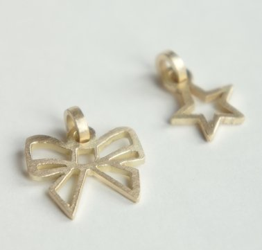 Fairmined 14 crt gold Star pendant
