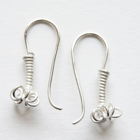 Flora ear pendants (Silver)