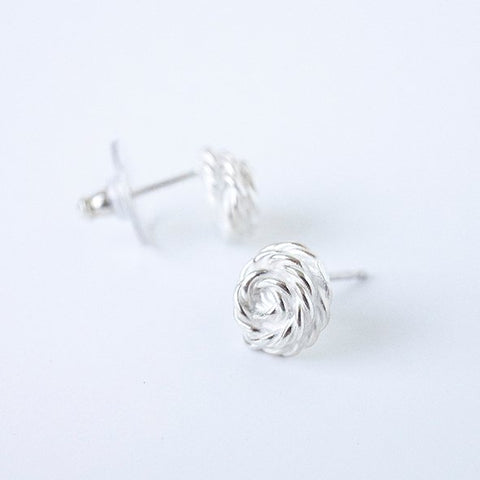 Earrings Flora Filigrain middle size in silver