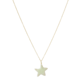 Little green star on 14 krt gold necklace