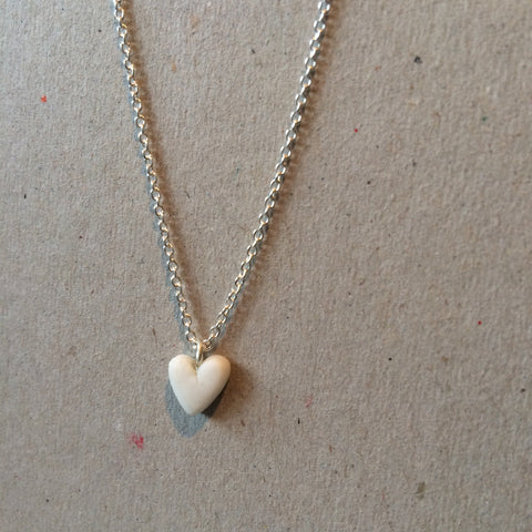 Smallest Heart Pendant (porcelain)