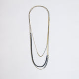 Restriction Necklace With Black Blue Pearls #5
