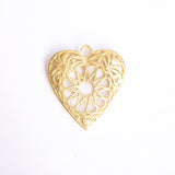 Give Love! Gold Plated Heart Pendant Large