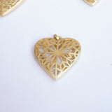 Give Love! Gold Plated Heart Pendant Middle