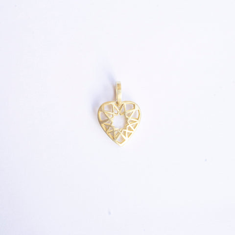 Give Love! Gold Plated Heart Pendant Mini
