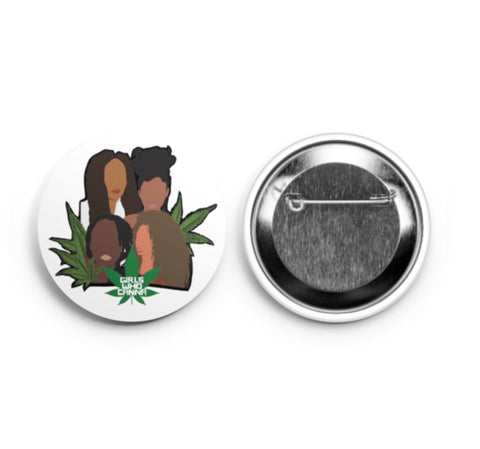 GIRLS WHO CANNA ROUND LOGO BUTTON