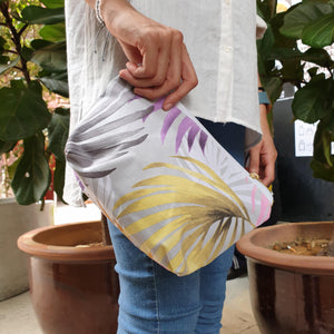 Nazanin Cosmetic Pouch (S) - Multicolor Palm