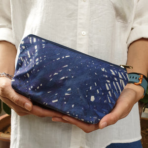 Nazanin Cosmetic Pouch (S) - Blue Tropical