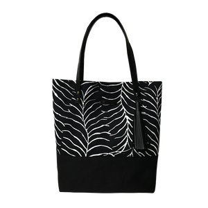 Batik Boutique Tote Bag - Black Fern