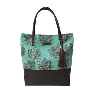 Batik Boutique Tote Bag - Teal Sawit