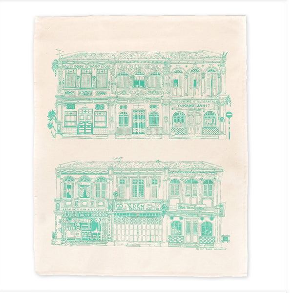 Bingka Tea Towel Colonial house