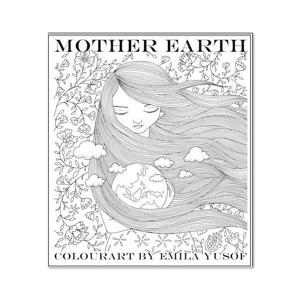 (E. Yusof) Colourart Book - Mother Earth
