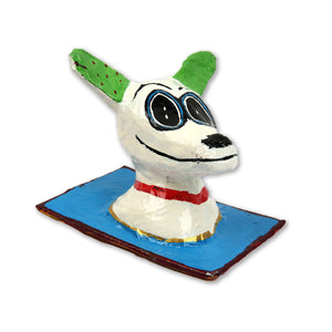 Hla Day Papier Mache Wall Head - Dog