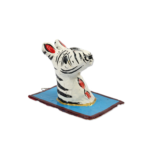 Hla Day Papier Mache Wall Head - Zebra