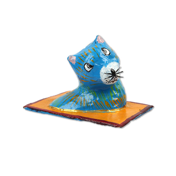 Hla Day Papier Mache Wall Head - Cat