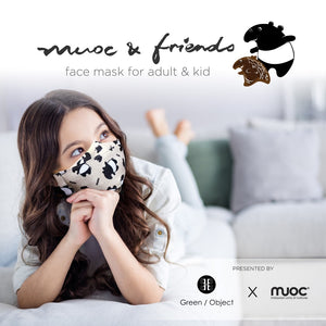 MUOC Handmade Malayan Tapir Face Mask (Adults & Kids)