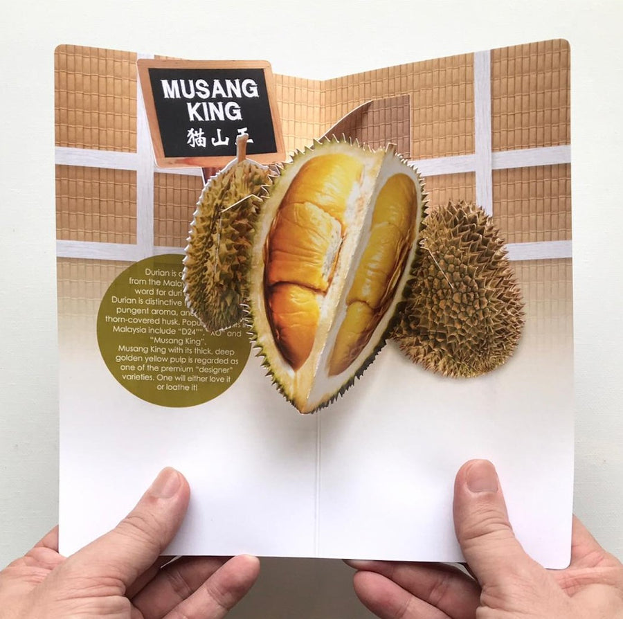 MUOC Food Pop-up Card - Durian